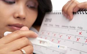 Записывание дня начала менструации